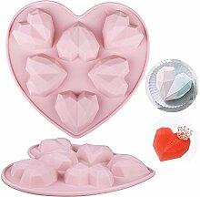 Wocuz 1 Packung 3D Diamant Herz Love Form Keksform