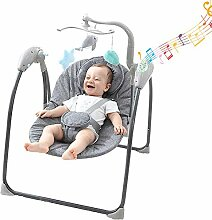 WODENY Elektrische Babyschaukel Säuglingswippe