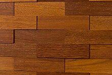 wodewa Merbau Holz Wandverkleidung   1m² 3D-Optik