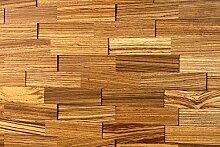 wodewa Wandverkleidung Holz 3D Optik I Zebrano I