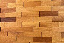 wodewa Wandverkleidung Holz 3D Optik Iroko 1m²