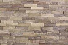 wodewa Wandverkleidung Holz 3D Optik Nussbaum 1m²
