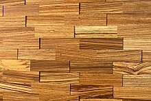 wodewa Wandverkleidung Holz 3D Optik Zebrano 1m²