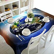 WODEWO-Tablecloths 3D Tischdecke Blauer Himmel