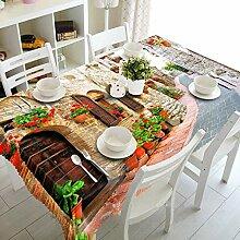 WODEWO-Tablecloths 3D Tischdecke Flower House