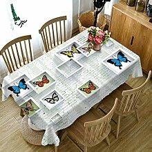 WODEWO-Tablecloths 3D Tischdecke Schmetterling