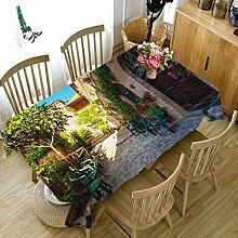 WODEWO-Tablecloths 3D Tischdecke Sikawild Blumen