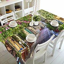 WODEWO-Tablecloths 3D Tischdecke Sunflower Tree