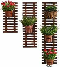 WODO Hölzerner Hängender Wand-Blumen-Stand,