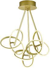 Wofi LED-DECKENLEUCHTE , Goldfarben, Metall,