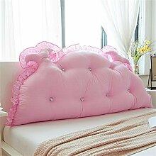 WOFULL Bedside Kissen Bett Rückenlehne Prinzessin Zimmer Kissen Doppelkissen weich ( Farbe : Pink , größe : 180*65cm )