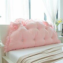 WOFULL Bedside Kissen Bett Rückenlehne Prinzessin Zimmer Kissen Doppelkissen weich ( Farbe : Pink , größe : 120*65cm )