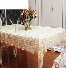 WOFULL Lace Tischtücher wasserdichte Einweg-Plastik Tischdecke Tischdecken Europäische Couchtisch Matten weichen PVC Tapete ( größe : 80*137 )