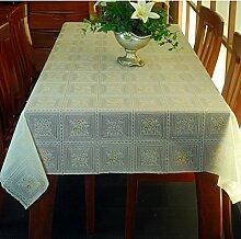 WOFULL Lace Tischtücher wasserdichte Einweg-Plastik Tischdecke Tischdecken Europäische Couchtisch Matten weichen PVC Tapete ( größe : 137*200 )