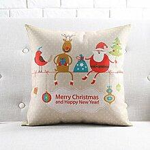 WOFULL Weihnachtsdekoration Kissen Neujahr Urlaub Baumwolle und Leinen-Sofa-Kissen Display Display-Kissen ( Farbe : 53cm-without Cor )