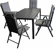Wohaga 9tlg. Gartengarnitur, Aluminium/Polywood