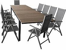 Wohaga Elegante Sitzgarnitur 11-teilig Sitzgruppe