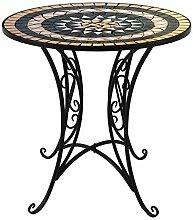 Wohaga® Mosaik Gartentisch rund Ø70cm