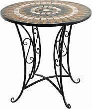 Wohaga® Mosaik Gartentisch rund Ø70x71cm
