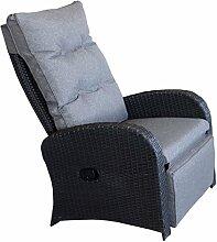 Wohaga® Polyrattan Sessel Gartensessel Schwarz