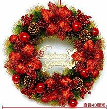 WOHENKEAI Weihnachtskranz Türdekoration Hängende