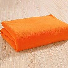 Wohn- & Kuscheldecken Bettwäsche plain Korallen Wolldecke Hautpflege komfortable reine Farbe Decke Decke A+ ( Farbe : Gelb , größe : 150*200cm )