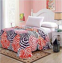 Wohn- & Kuscheldecken Herbst und Winter Flanell Decken, Einzelbettlaken, Heimdecken, Sofa Einzeldecke Decke A+ ( Farbe : Kaleidoscope , größe : 160*220CM )