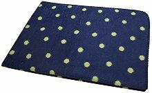 Wohn- und Kinder Decke Punkte blau Bio Baumwolle 150x200