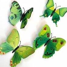 Wohnaccessoires - 3D Wandtattoo Schmetterling Set