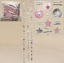 Wohnaccessoires - Muschelgirlande Sterne - Capiz