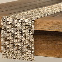 Wohnaccessoires - Tischband Diamonds 120x12cm