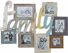WOHNANDO Bilderrahmen Collage - Family - 7 Bilder