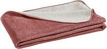 WOHNDECKE 150/200 cm Rosa, Silberfarben