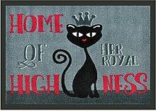 WohnDirect Royale Katze Lustige Fußmatte für