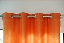 wohnen.com Ösenschals (2Stk.) Aura Farbe orange