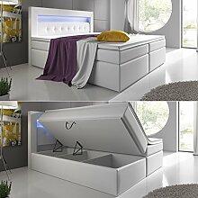 Wohnen-Luxus Boxspringbett 140x200 Grau mit