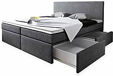 Wohnen-Luxus Boxspringbett 140x200 mit Bettkasten