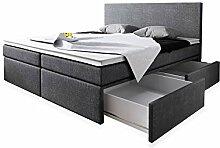 Wohnen-Luxus Boxspringbett 160x200 mit Bettkasten