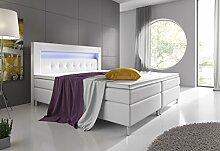 Wohnen-Luxus Boxspringbett 160x200 Weiß mit