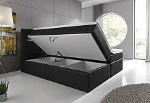 Wohnen-Luxus Boxspringbett 180x200 Schwarz mit