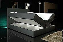 Wohnen-Luxus Boxspringbett Grau 180x200 inkl. 2