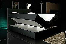 Wohnen-Luxus Boxspringbett Schwarz 160x200 inkl. 2