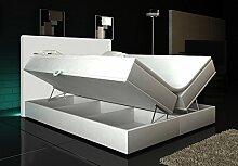 Wohnen-Luxus Boxspringbett Weiß Lift 160x200