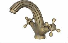 Wohnfreuden Bad Armatur Spültischarmatur Wasserhahn Waschtischarmatur Messing gold 16 cm