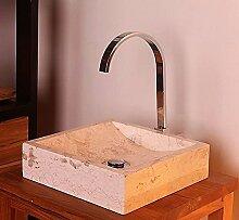 Wohnfreuden Marmor Aufsatz-Waschbecken PERAHU 30