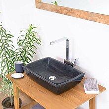 wohnfreuden Marmor Aufsatzwaschbecken 50x35x11 cm