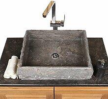 wohnfreuden Marmor Aufsatzwaschbecken 50x40x10 cm