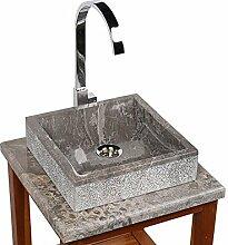 wohnfreuden Marmor Aufsatzwaschbecken Mini Perahu
