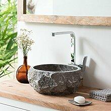 wohnfreuden Marmor Naturstein Aufsatz-Waschbecken