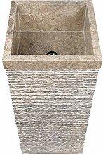 wohnfreuden Marmor Stand-Waschbecken 40x40x90 cm |